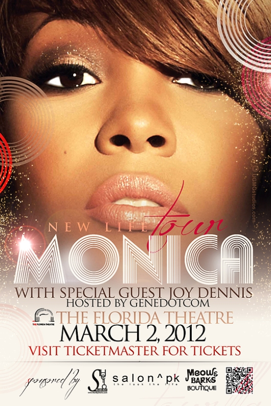 MONICA - The New Life Tour @ The Florida Theatre with Joy Dennis